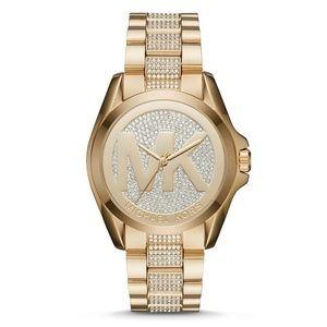 Gold Women's Bradshaw Gold-tone Pavé Watch Mk6487